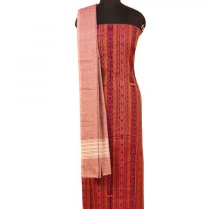 French Plum cotton Dress material