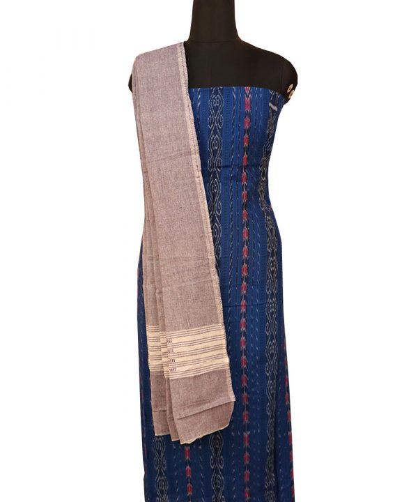 Dark Powder Blue cotton Dress material