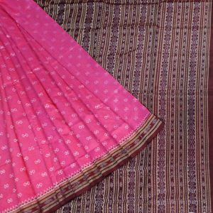 Cerise Pink silk saree