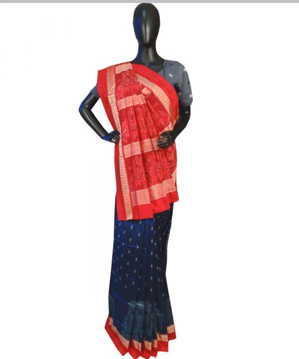 Catalina Blue silk saree