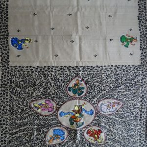 Off White pattachitra saree