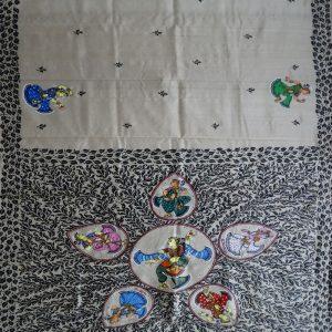Off White pattachitra saree