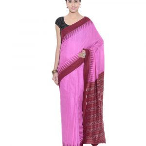 Exclusive Deep Pink & Maroon Traditional Eri Silk Saree