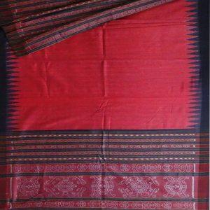 Dark Red eri silk saree