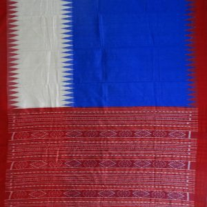 Bluebonneteri & Cream eri silk saree