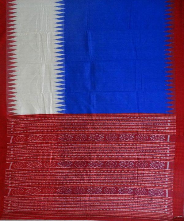 Bluebonneteri & Cream eri silk saree