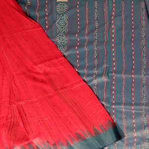 Crimson Glory tussar silk Saree