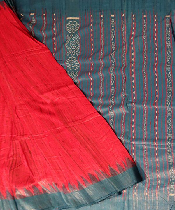 Crimson Glory tussar silk Saree