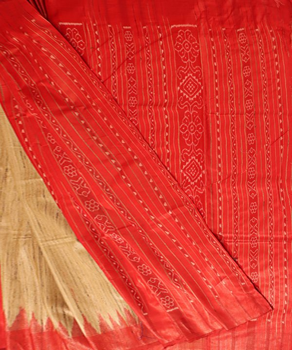 Desert sand tussar silk Saree