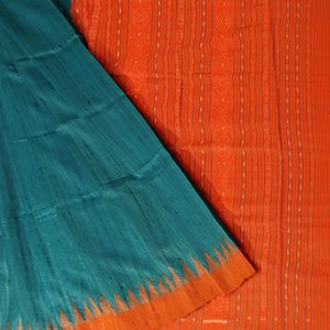 Celestial Blue tussar silk