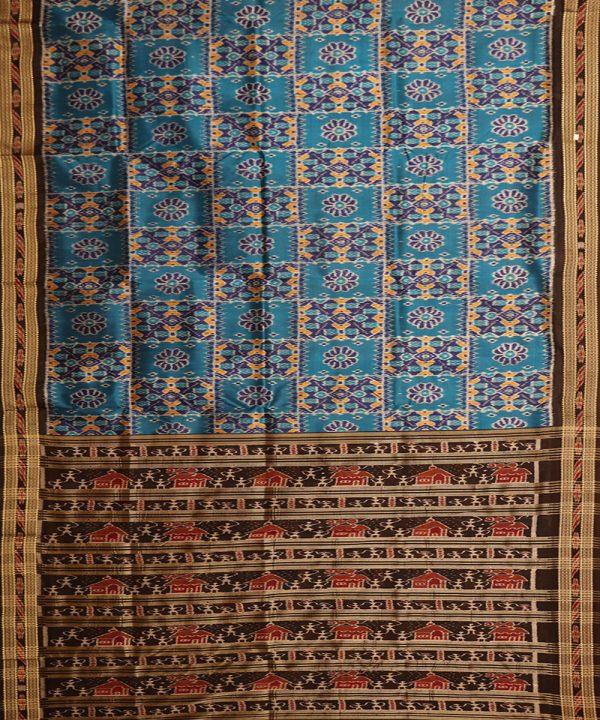CG Blue khandua silk saree