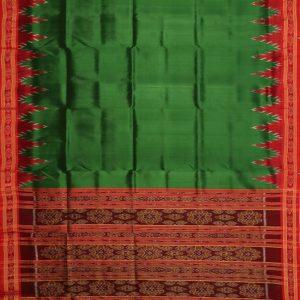 Cadmium Green khandua silk saree
