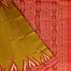 Drab khandua silk saree