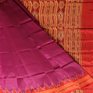 Electric Indigo khandua silk saree