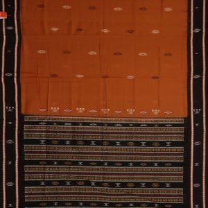 Flame Bomkai cotton saree