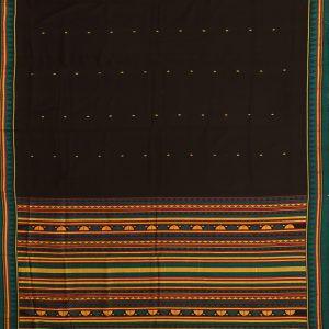 Black dongria cotton saree