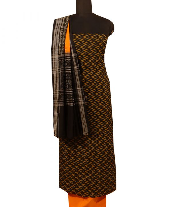 Black sambalpuri cotton Dress material