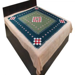 Bottle Green Double Bed Cover