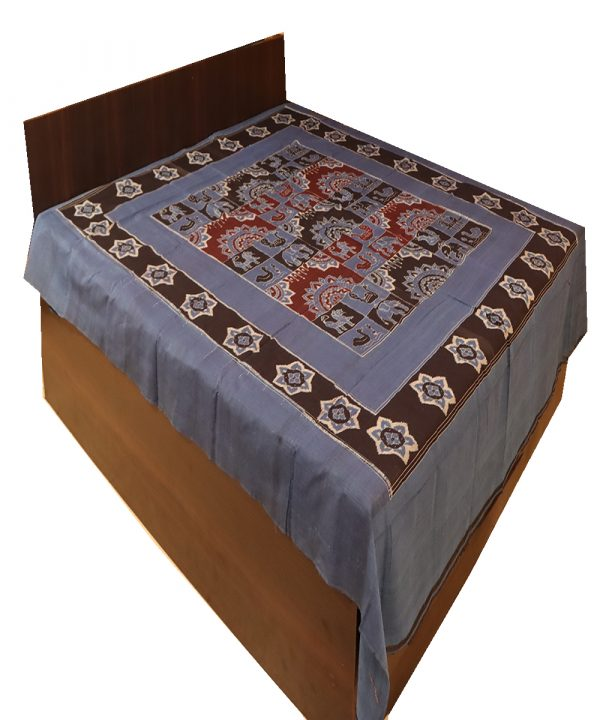 Cerulean Blue Double Bed Cover