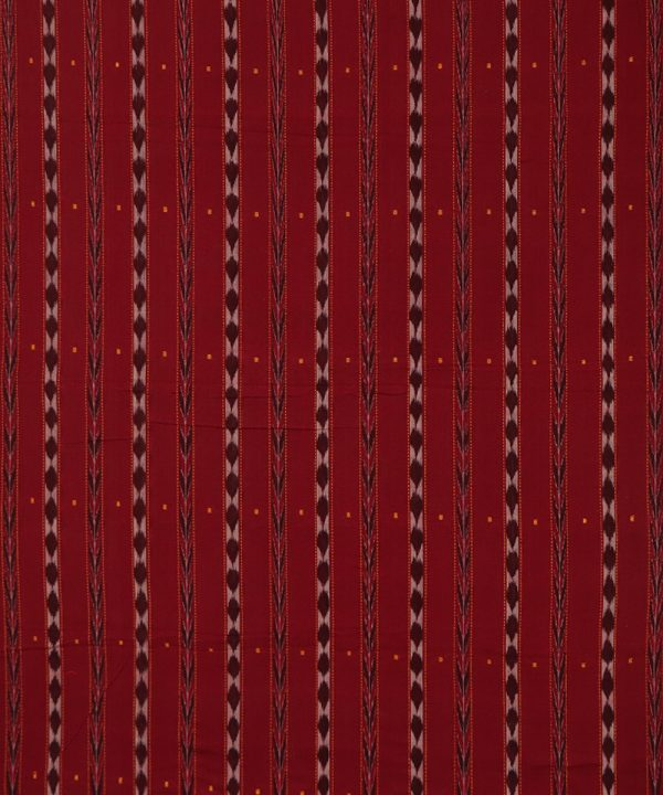 Maroon nuapatna traditional ikat Material