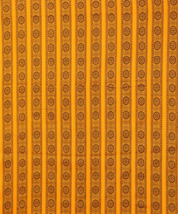 Yellow bomkai traditional ikat Material