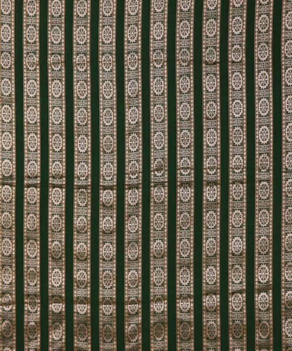 Green bomkai traditional ikat