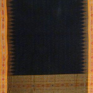 Black nuapatana cotton saree
