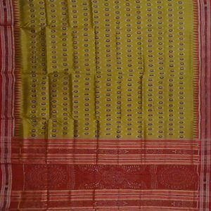 Yellow khandua silk saree