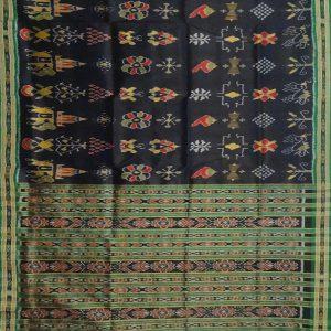 Black khandua silk